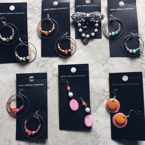 New York and Company LOT of colorful Earrings